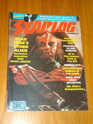 Starlog #42 Sci-Fi Magazine January 1981 Star Trek Flash Gordon Dr Who