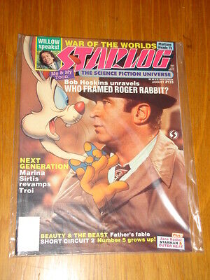 Starlog #133 Sci-Fi Magazine August 1988 Who Framed Roger Rabbit? Willow