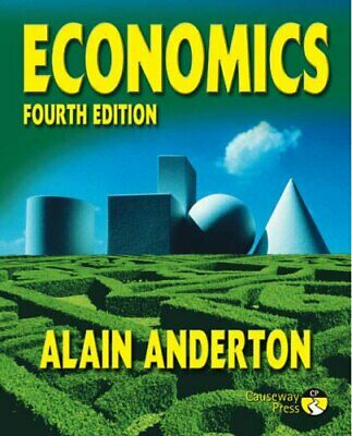 Economics: 4th Edition by Anderton, Mr Alain Paperback Book The Cheap Fast Free