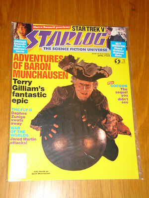 Starlog #141 Sci-Fi Magazine April 1989 Adventures Of Baron Munchausen Star Trek