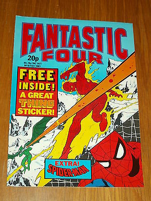 Fantastic Four #18 Marvel British Weekly 2 February 1983 Spiderman With Gift