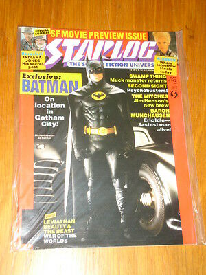 Starlog #142 Sci-Fi Magazine May 1989 Batman Swamp Thing Indiana Jones