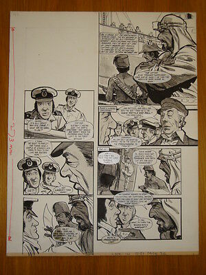 Look-In Doctor At Large Spin Off Original Comic Art