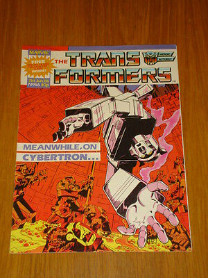 Transformers British Weekly #66 Marvel Uk Comic 1986 Rare Rocket Racoon Story
