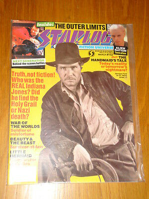 Starlog #152 Sci-Fi Magazine March 1990 Indiana Jones Alien Nation Star Trek
