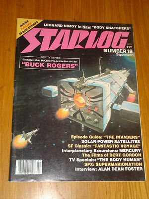Starlog #16 Sci-Fi Magazine September 1978 Buck Rogers Body Snatchers Invaders