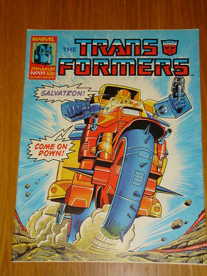 Transformers British Weekly #119 Marvel Uk Comic 1987