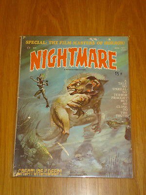 Nightmare #5 Vg (4.0) Skywald Horror Magazine Comic 1970