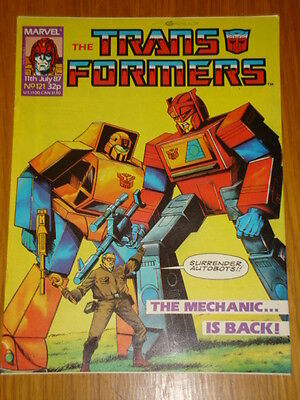 Transformers British Weekly #121 Marvel Uk Comic 1987