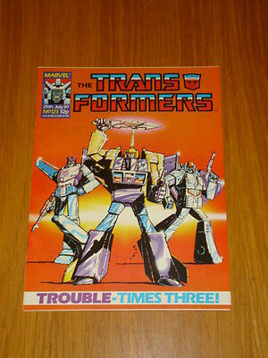 Transformers British Weekly #123 Marvel Uk Comic 1987