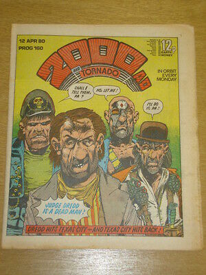 2000Ad #160 British Weekly Comic Judge Dredd Apr 1980 *