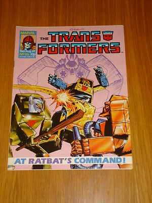 Transformers British Weekly #126 Marvel Uk Comic 1987