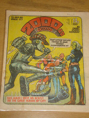 2000Ad #177 British Weekly Comic Judge Dredd Sep 1980 *