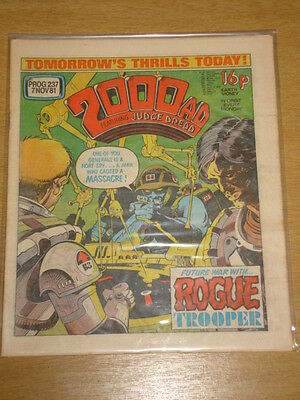 2000Ad #237 British Weekly Comic Judge Dredd Nov 1981 *
