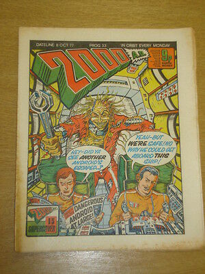 2000Ad #33 British Weekly Comic Judge Dredd Oct 1977 *