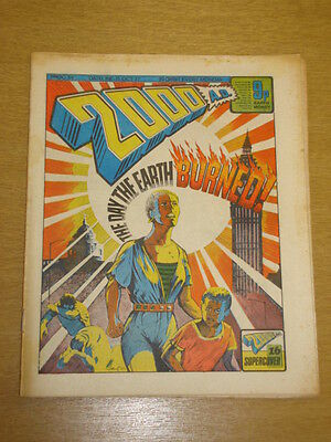 2000Ad #34 British Weekly Comic Judge Dredd Oct 1977 *