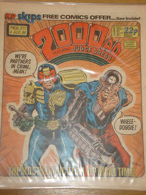 2000Ad #377 British Weekly Comic Judge Dredd Scarce *
