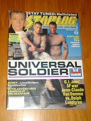 Starlog #182 Sci-Fi Magazine September 1992 Universal Soldier Babylon Five