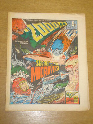 2000Ad #40 British Weekly Comic Judge Dredd Nov 1977 *