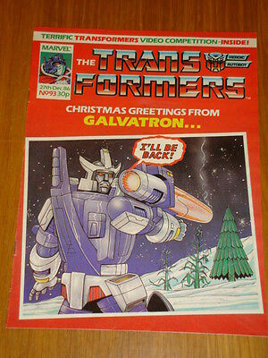 Transformers British Weekly #93 Marvel Uk Comic 1986