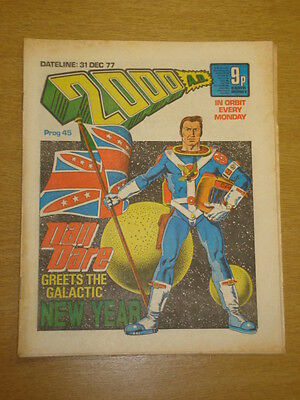 2000Ad #45 British Weekly Comic Judge Dredd Dec 1977 *
