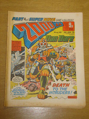 2000Ad #49 British Weekly Comic Judge Dredd Jan 1978 *