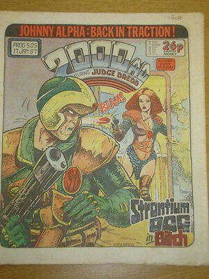 2000Ad #505 British Weekly Comic Judge Dredd *