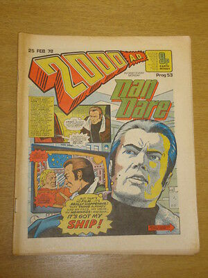 2000Ad #53 British Weekly Comic Judge Dredd *