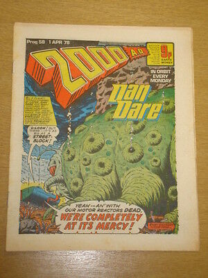 2000Ad #58 British Weekly Comic Judge Dredd *