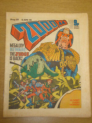 2000Ad #59 British Weekly Comic Judge Dredd *