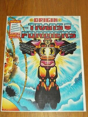 Transformers British Weekly #150 30Th January 1988 Marvel Uk Comic With Gift