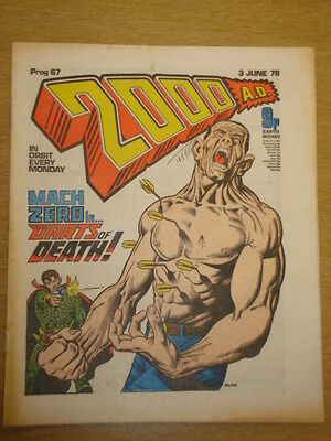 2000Ad #67 British Weekly Comic Judge Dredd *