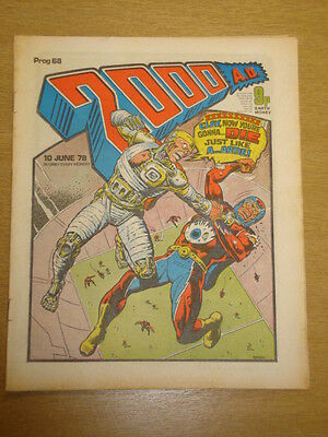2000Ad #68 British Weekly Comic Judge Dredd *