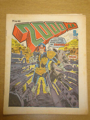 2000Ad #69 British Weekly Comic Judge Dredd *
