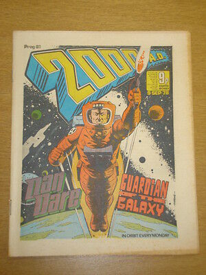 2000Ad #81 British Weekly Comic Judge Dredd *