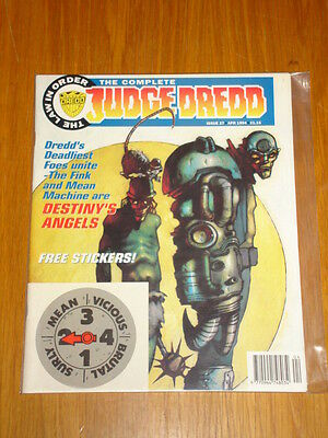 Complete Judge Dredd #27 2000Ad British Magazine 1994 April *with Free Stickers*