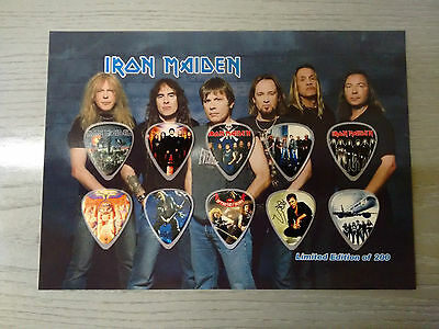 Iron Maiden Set 10 Plettri Chitarra Guitar Picks Gitarren Plektrum Rock L200