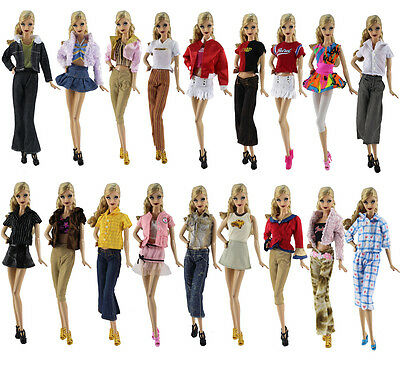 5 PCS Different Style Fashion Handmade Clothes Outfit+10 Shoes For 11.5in.Doll