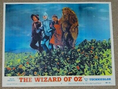 Wizard Of Oz Judy Garland Tin Man Lion Scarecrow Field Of Poppies Movie Poster