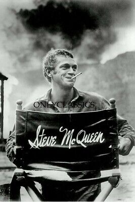 Steve Mcqueen In Leather Jacket Motorcycle Action Photo King Of Cool Rides Cycle