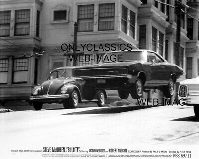1968 Dodge Charger Flying In Air Steve Mcqueen Bullitt Movie Photo Automobilia