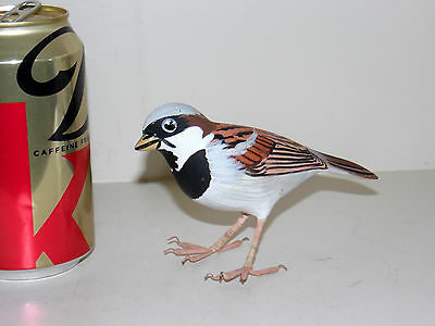 Hand Painted Sparrow Bird Signed Limited Edition 65/257