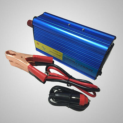 500W/1200W Peak Pure Sine Wave Power Inverter DC 12V to AC 230V New Car Caravan