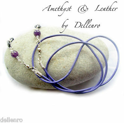 ✫Amethyst & Leather✫ Eyeglass Glasses Spectacle Chain Holder  Cord