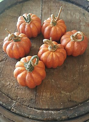 "Small 2"" Plastic Pumpkin Holiday Decorations 6 pc."