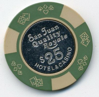 San Juan Quality Royale   $25 Coin  Inlay  Casino  Chip  #2