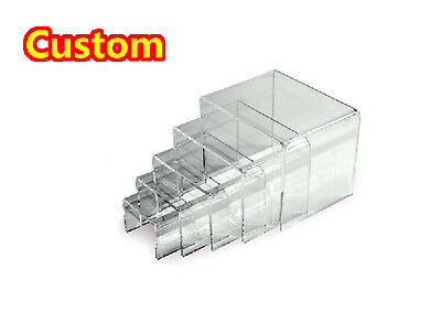 Display Riser Stand acrylic plexiglass Lucite Toy Jewelry Gifts Showcase 1 set