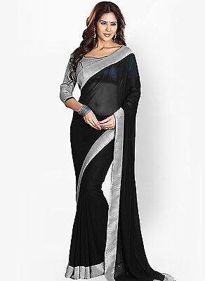 Bollywood Indian Pakistani Ethnic Designer Party Wear Saree Sari with Blouse