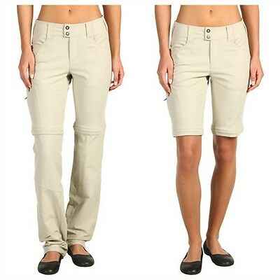 "Columbia Saturday Trail Stretch Convertible Pant Women's 8 Long 34"" Inseam NEW"