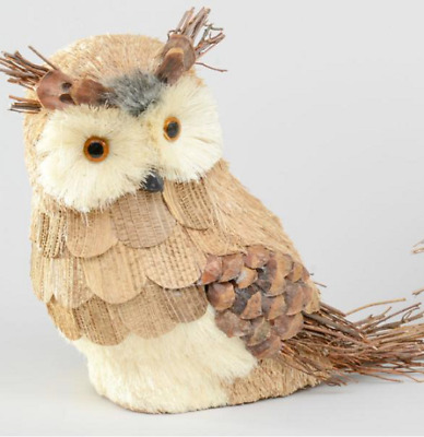 30cm Large Natural Cone/Straw Owl Figure Christmas Decoration